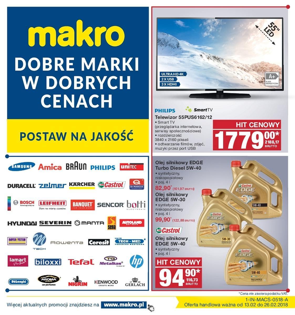 Gazetka promocyjna MAKRO do 26/02/2018 str.0
