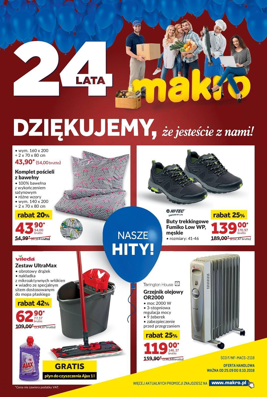 Gazetka promocyjna MAKRO do 08/10/2018 str.1