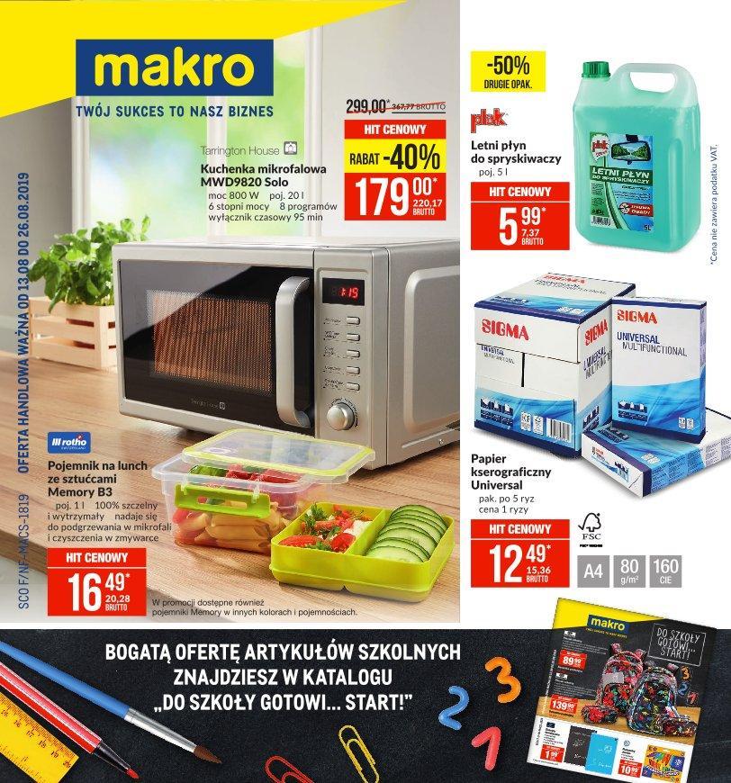 Gazetka promocyjna MAKRO do 26/08/2019 str.0