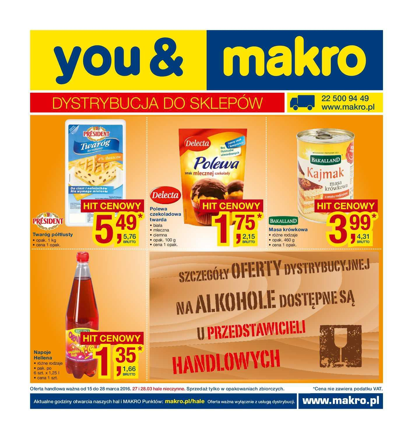 Gazetka promocyjna MAKRO do 28/03/2016 str.0