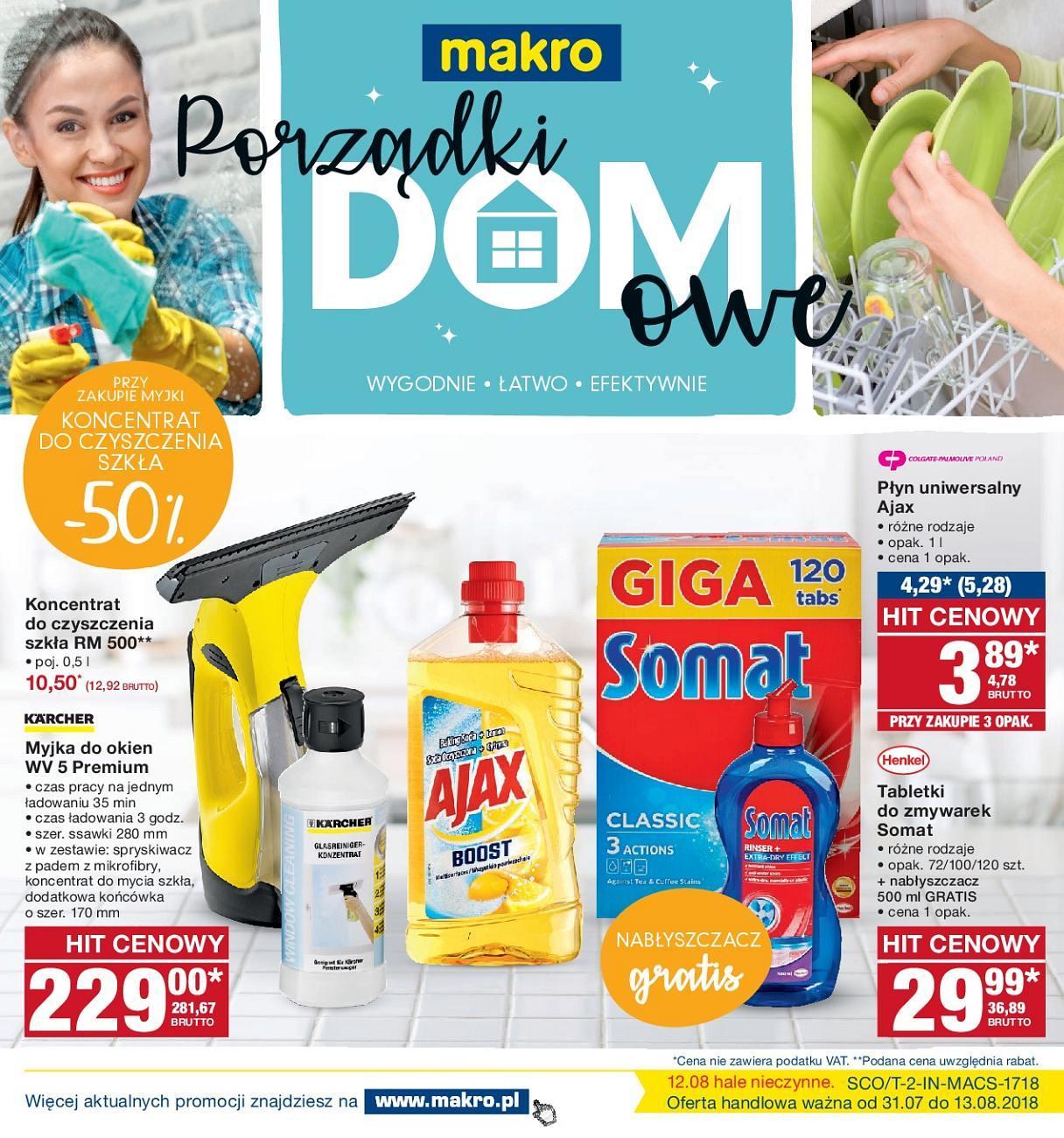 Gazetka promocyjna MAKRO do 13/08/2018 str.1