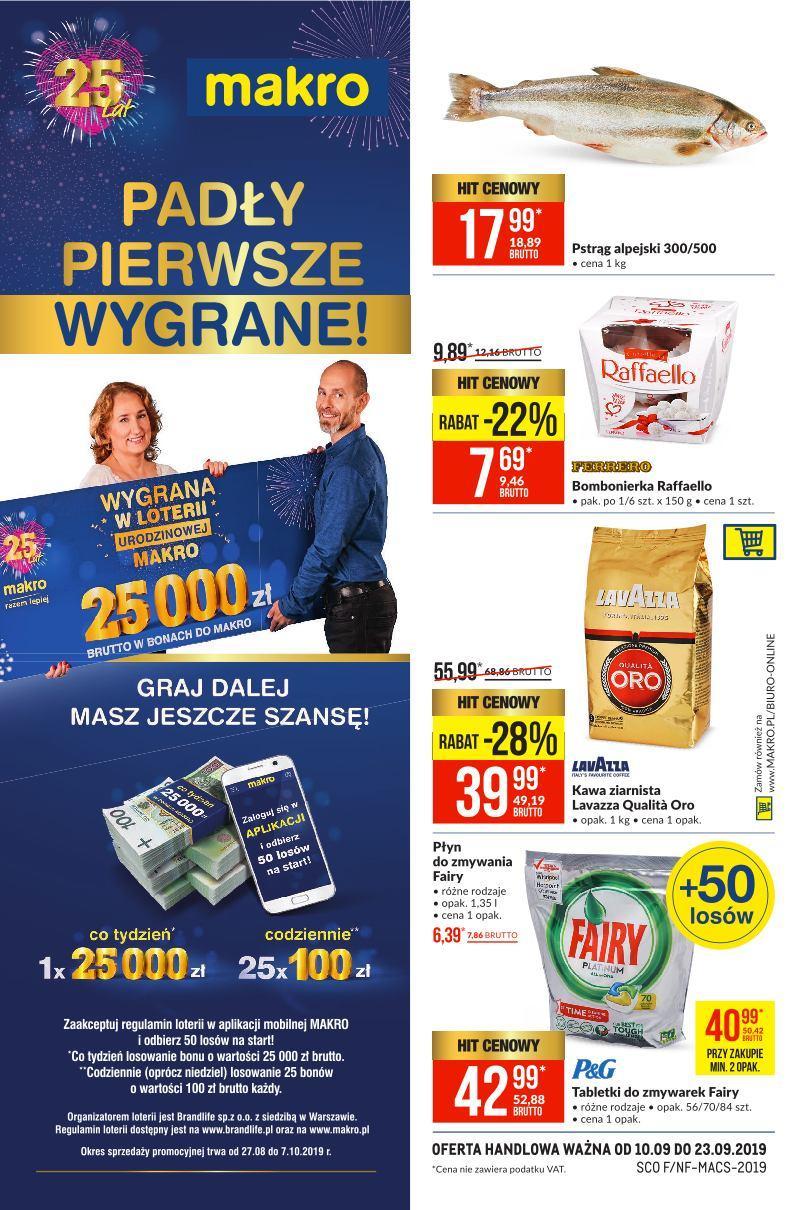 Gazetka promocyjna MAKRO do 23/09/2019 str.1