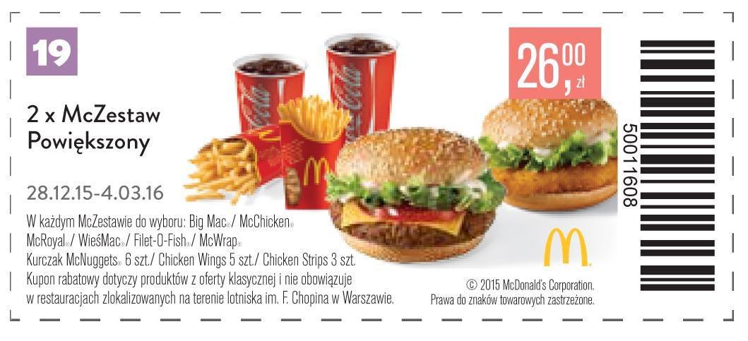 Gazetka promocyjna McDonalds do 04/03/2016 str.20