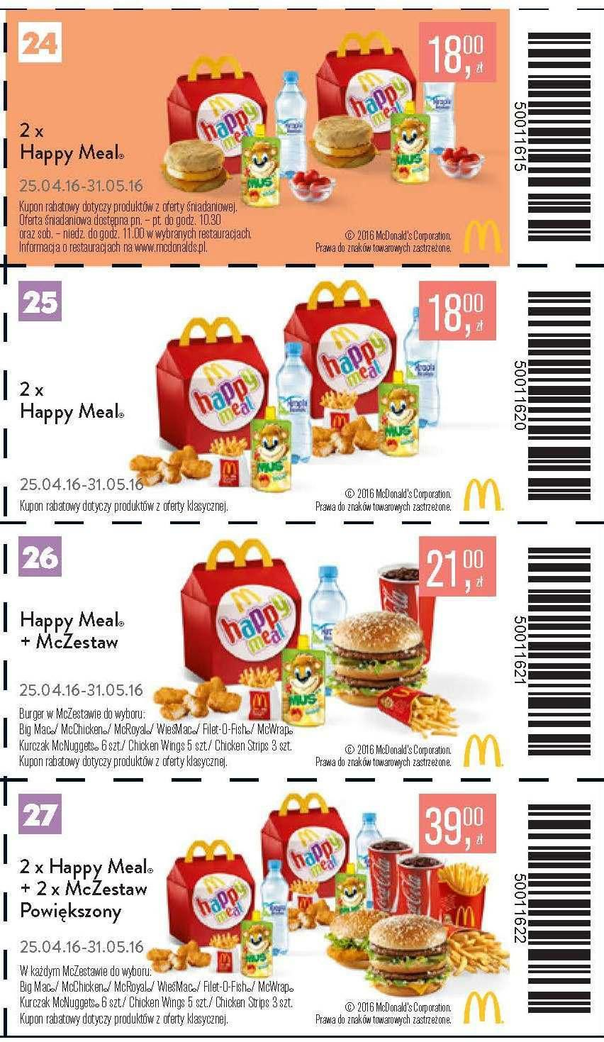 Gazetka promocyjna McDonalds do 31/05/2016 str.5