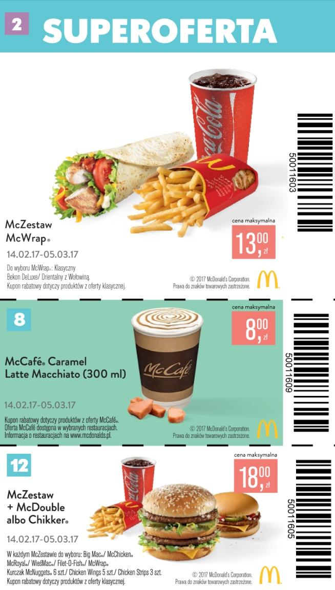 Gazetka promocyjna McDonalds do 15/03/2017 str.1
