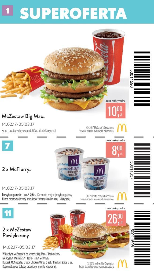 Gazetka promocyjna McDonalds do 15/03/2017 str.0