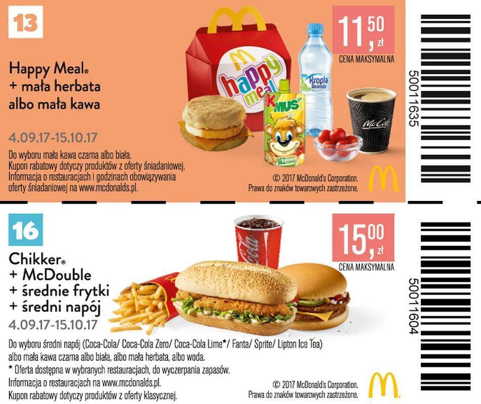 Gazetka promocyjna McDonalds do 15/10/2017 str.10