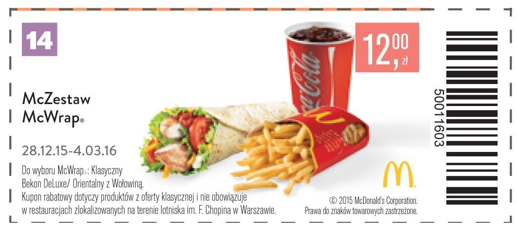 Gazetka promocyjna McDonalds do 04/03/2016 str.14