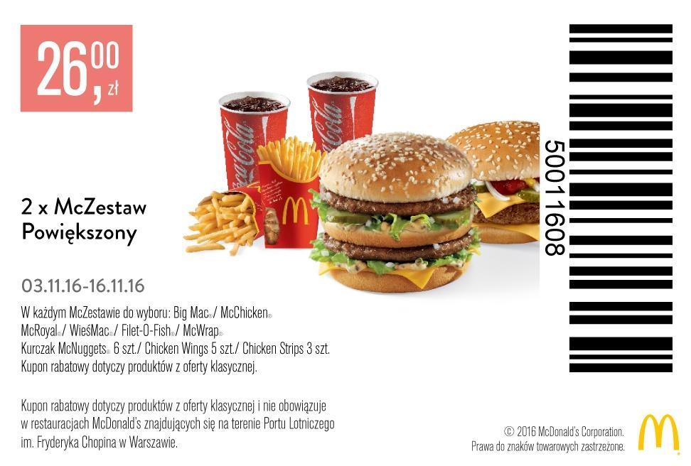 Gazetka promocyjna McDonalds do 16/11/2016 str.2