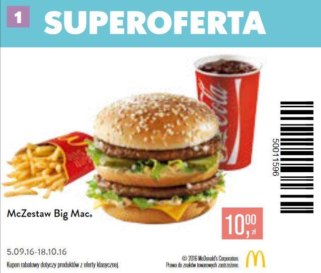 Gazetka promocyjna McDonalds do 18/10/2016 str.0