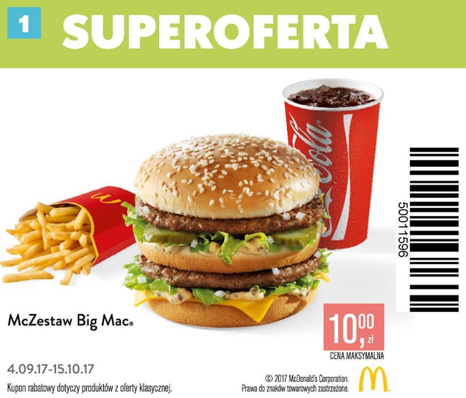 Gazetka promocyjna McDonalds do 15/10/2017 str.1