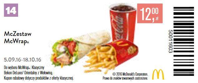 Gazetka promocyjna McDonalds do 18/10/2016 str.13