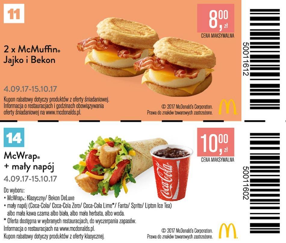Gazetka promocyjna McDonalds do 15/10/2017 str.8
