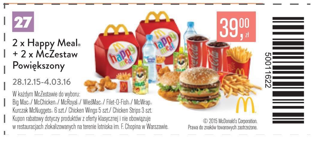 Gazetka promocyjna McDonalds do 04/03/2016 str.28