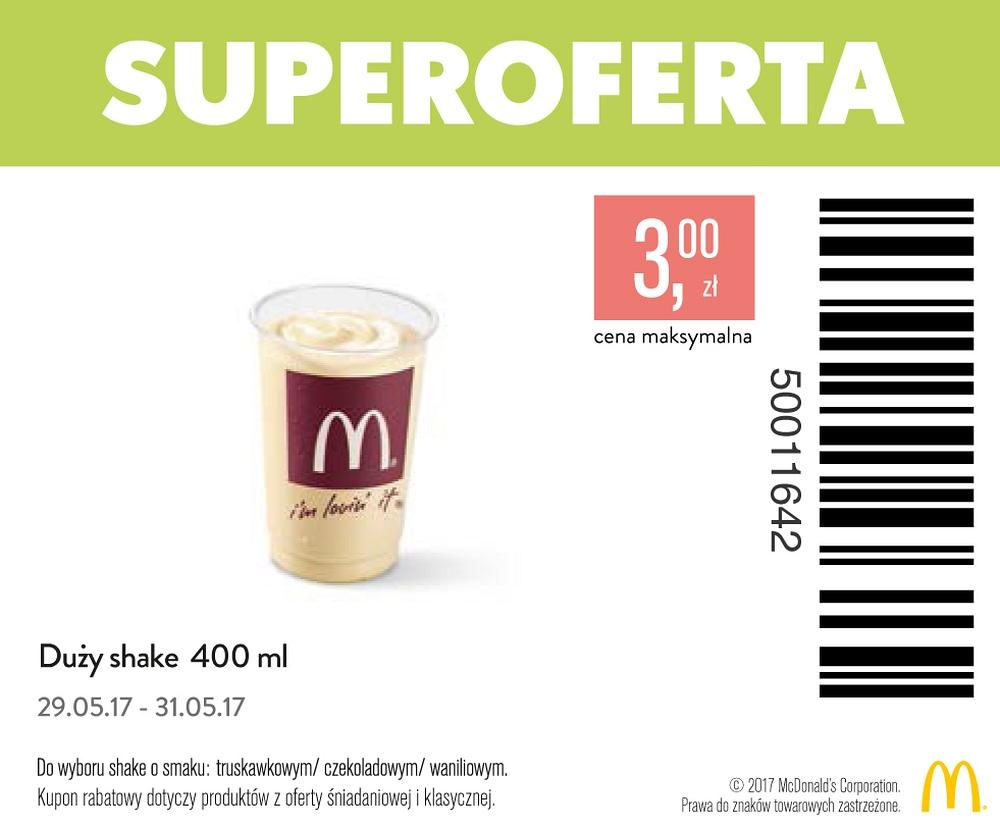 Gazetka promocyjna McDonalds do 31/05/2017 str.1