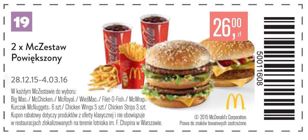 Gazetka promocyjna McDonalds do 04/03/2016 str.19