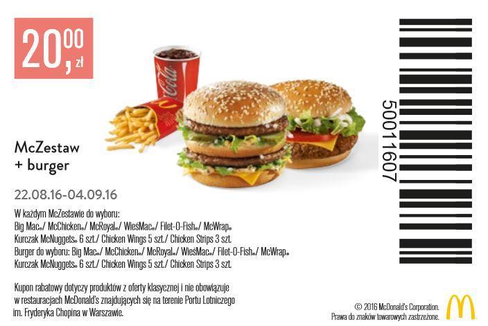 Gazetka promocyjna McDonalds do 04/09/2016 str.1