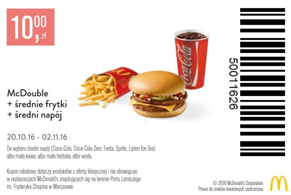 Gazetka promocyjna McDonalds do 02/11/2016 str.0