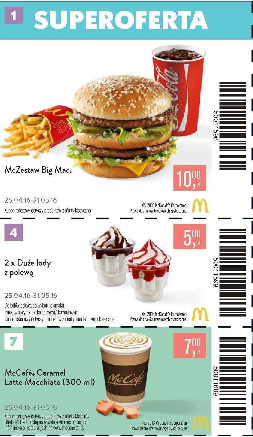 Gazetka promocyjna McDonalds do 31/05/2016 str.0