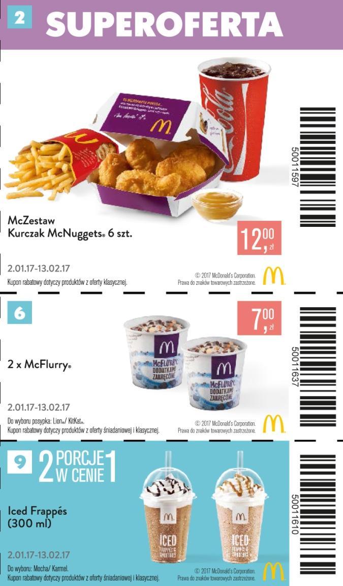 Gazetka promocyjna McDonalds do 13/02/2017 str.1