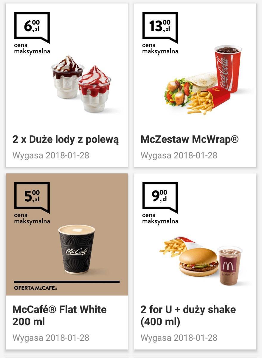 Gazetka promocyjna McDonalds do 28/01/2018 str.1