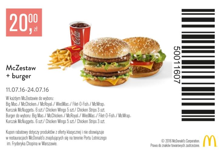 Gazetka promocyjna McDonalds do 24/07/2016 str.1