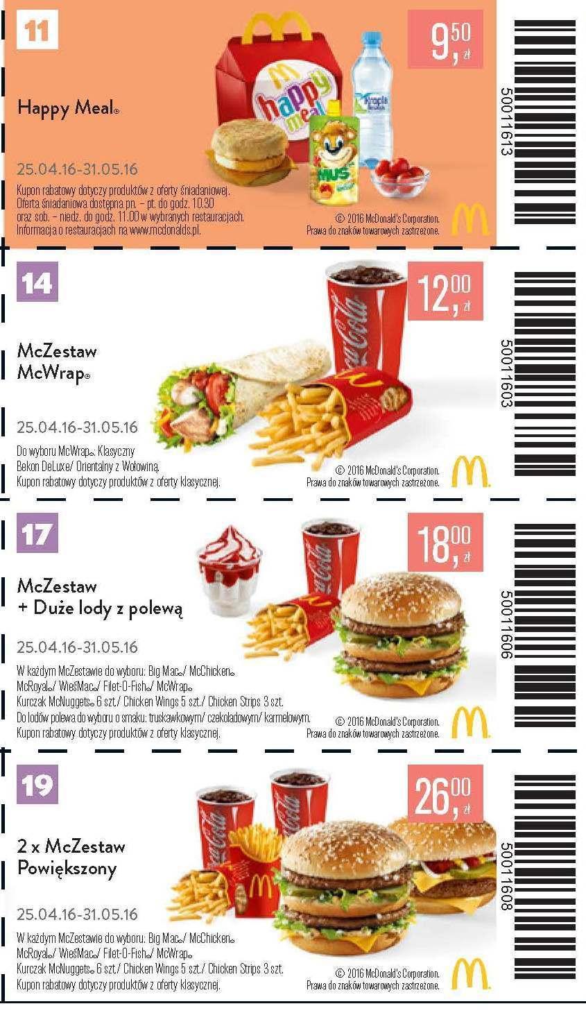 Gazetka promocyjna McDonalds do 31/05/2016 str.6