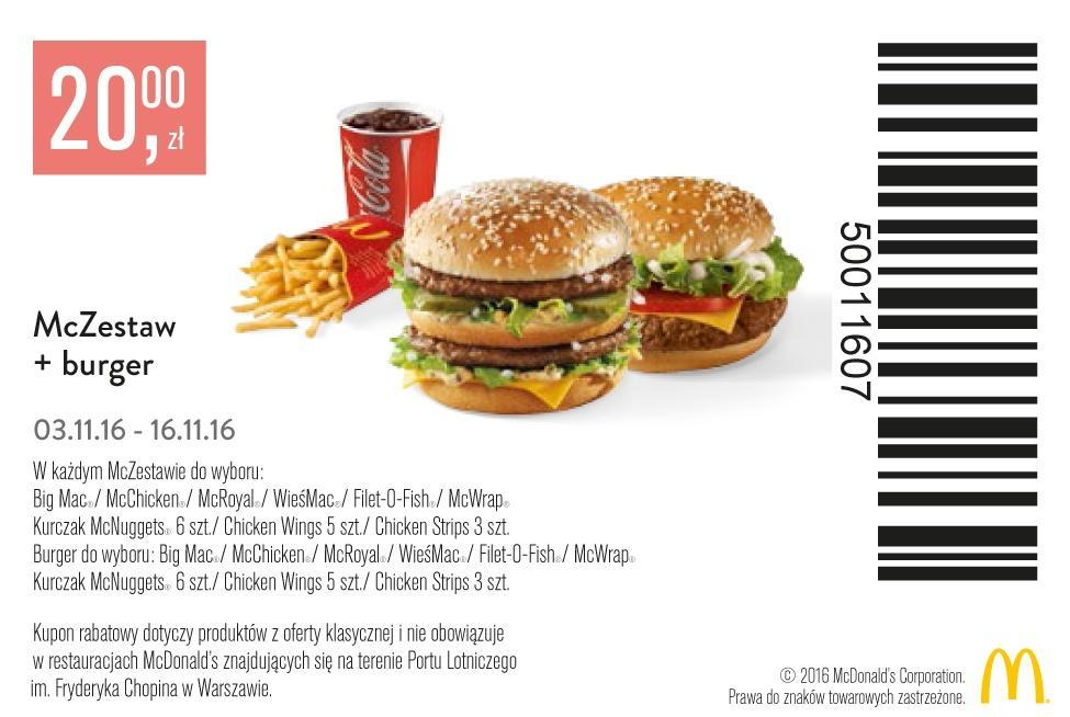 Gazetka promocyjna McDonalds do 16/11/2016 str.1