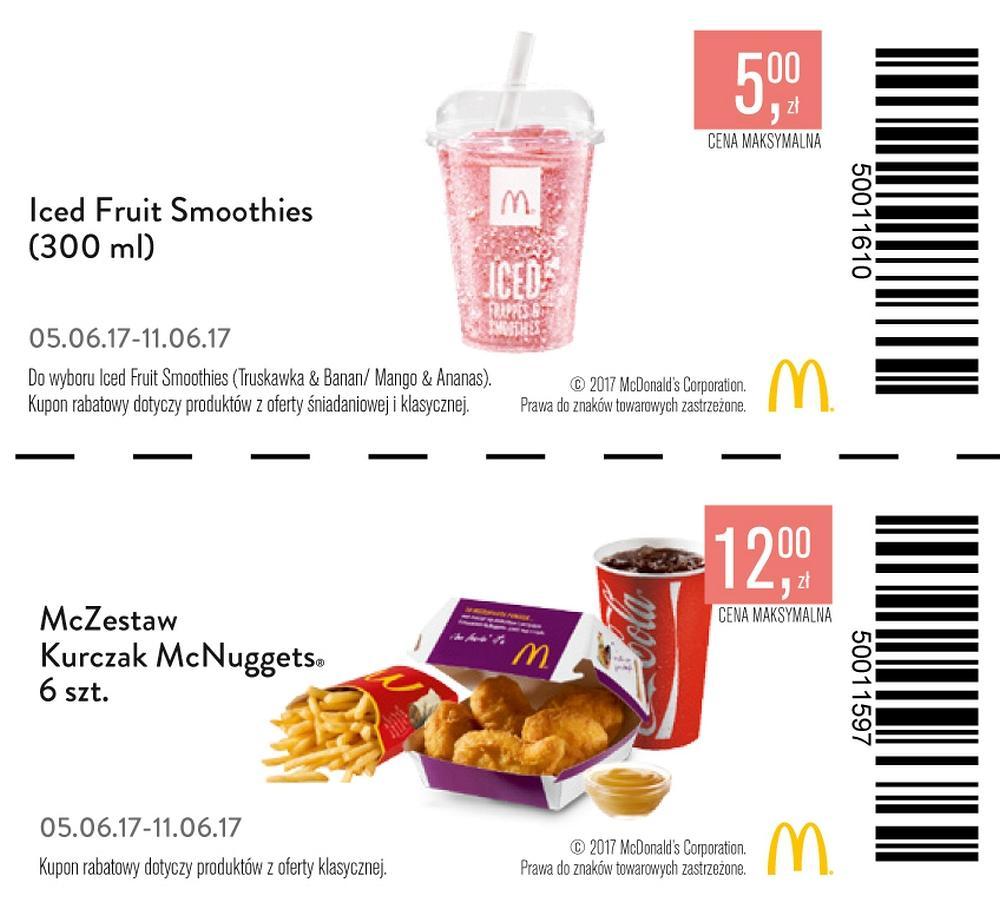 Gazetka promocyjna McDonalds do 11/06/2017 str.1