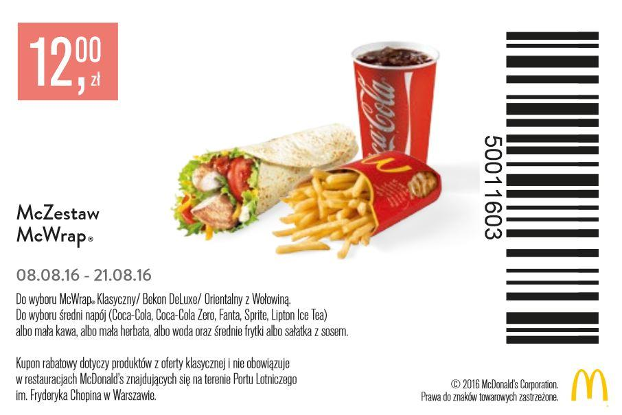 Gazetka promocyjna McDonalds do 21/08/2016 str.1