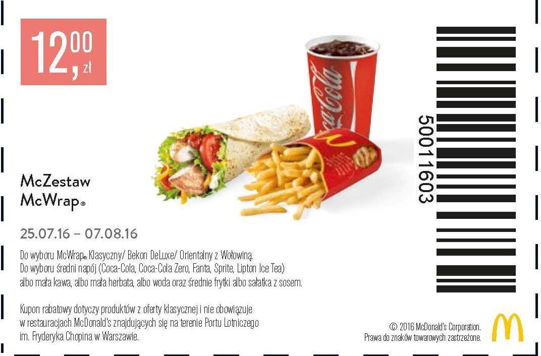 Gazetka promocyjna McDonalds do 07/08/2016 str.1