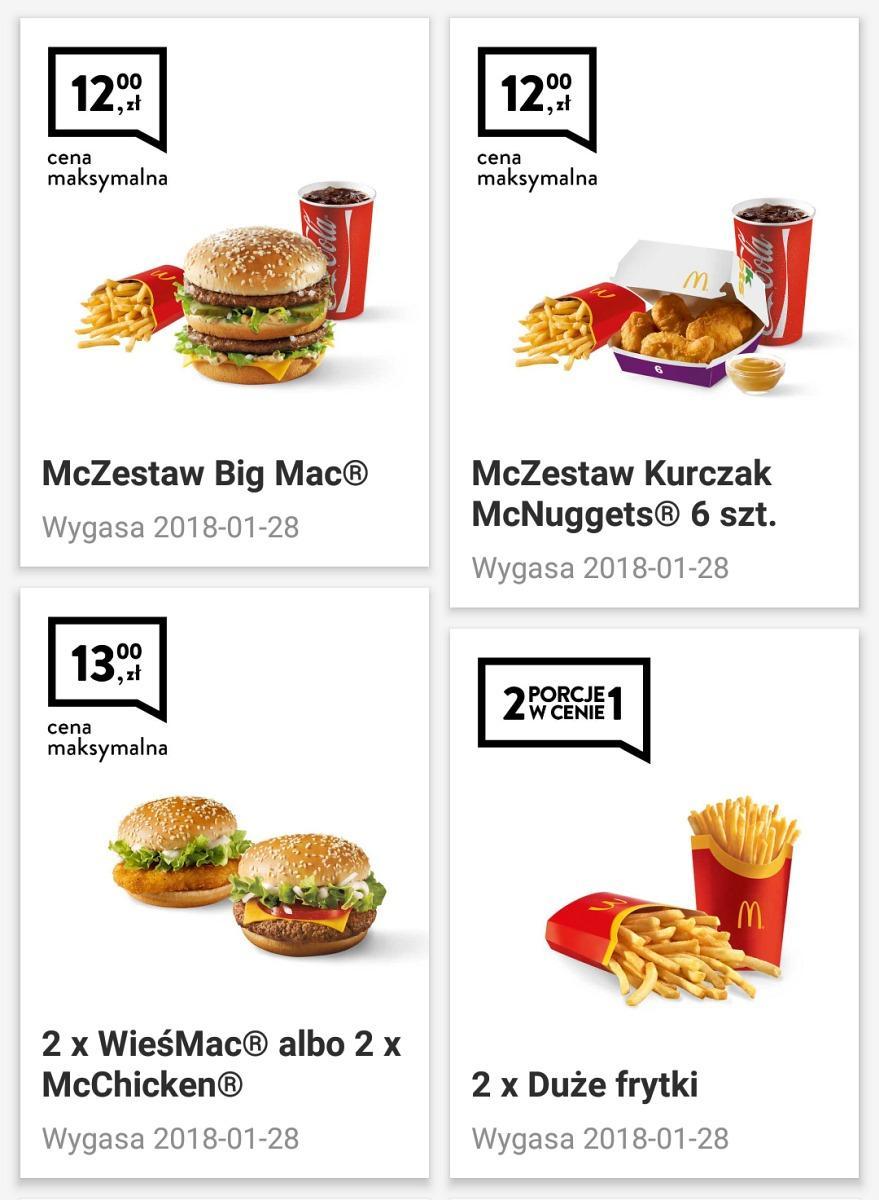 Gazetka promocyjna McDonalds do 28/01/2018 str.0