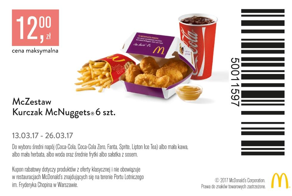 Gazetka promocyjna McDonalds do 21/03/2017 str.1