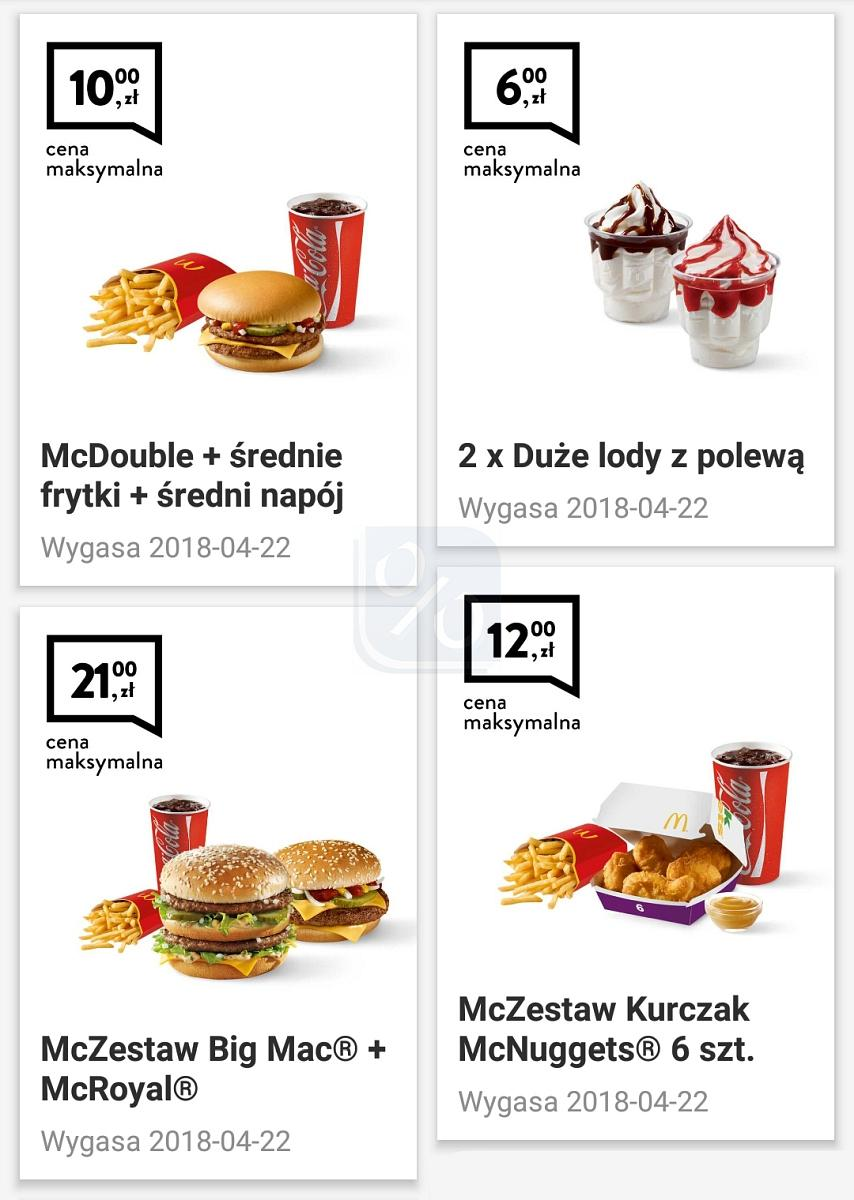 Gazetka promocyjna McDonalds do 22/04/2018 str.0