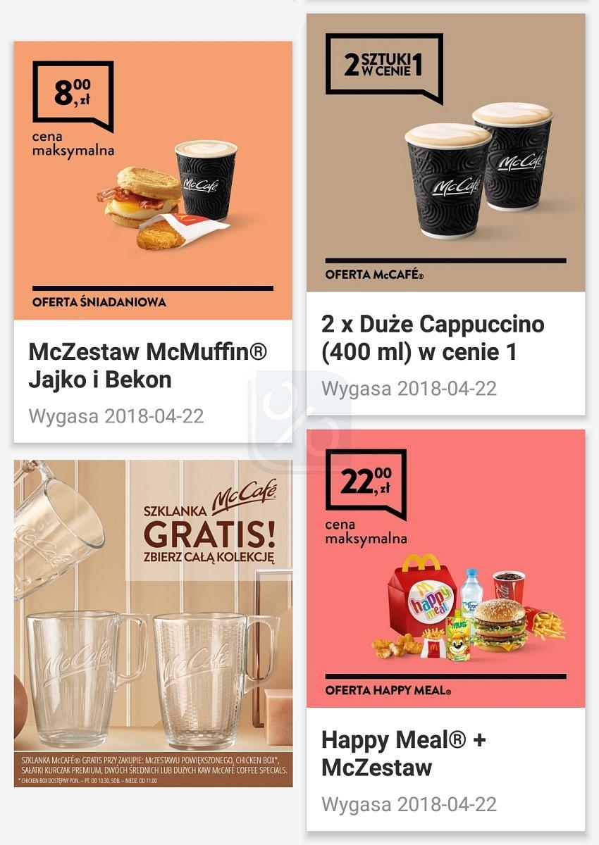 Gazetka promocyjna McDonalds do 22/04/2018 str.1