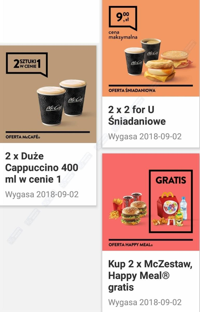 Gazetka promocyjna McDonalds do 02/09/2018 str.1