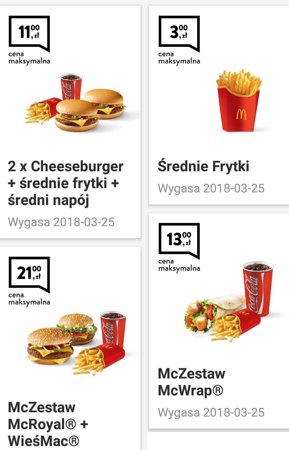 Gazetka promocyjna McDonalds do 25/03/2018 str.0