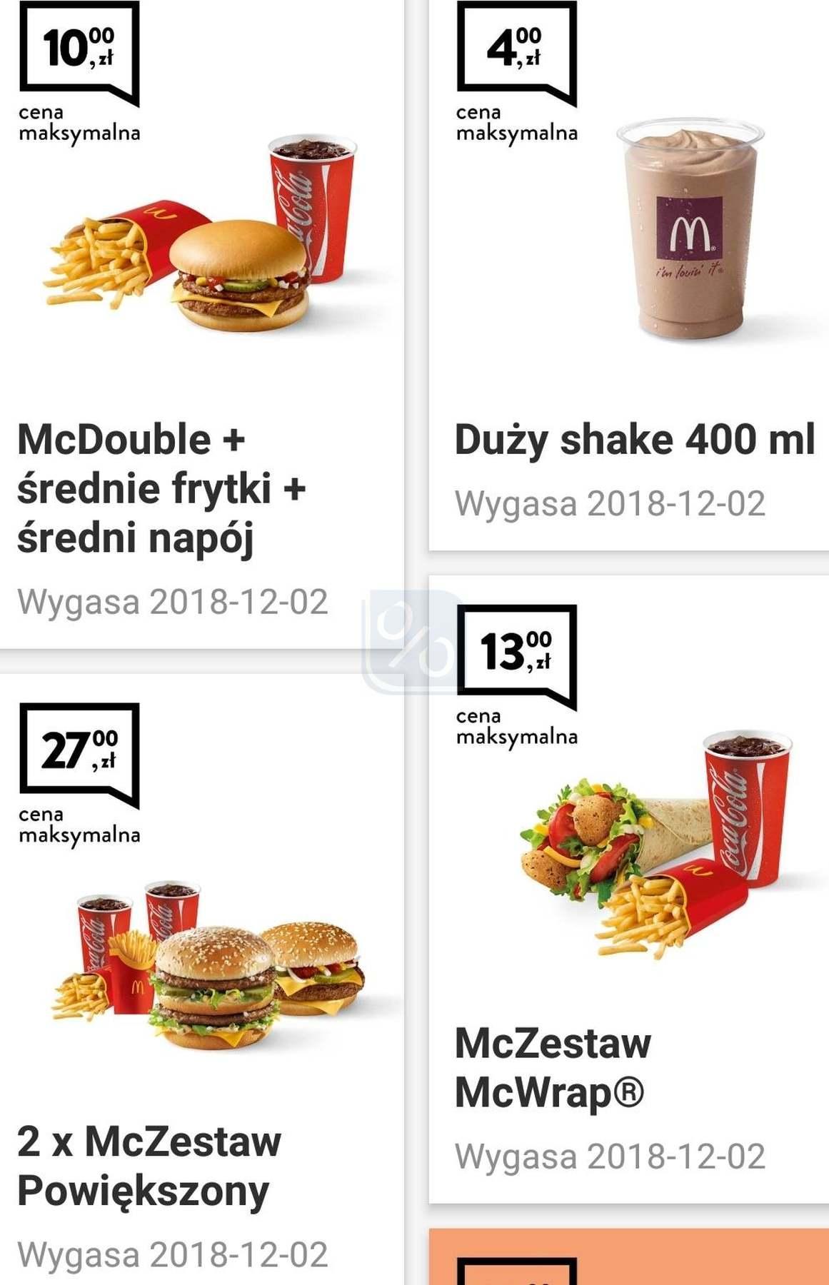 Gazetka promocyjna McDonalds do 02/12/2018 str.1