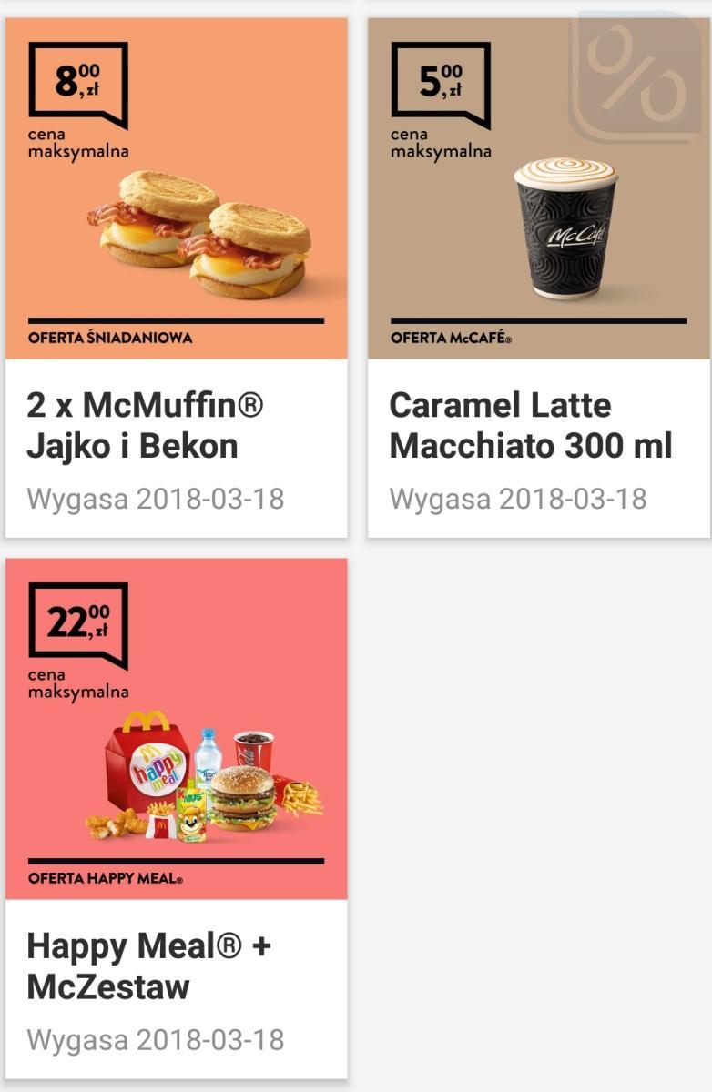 Gazetka promocyjna McDonalds do 18/03/2018 str.1