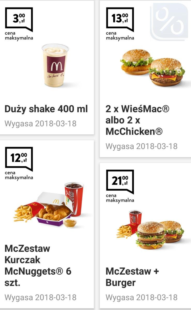 Gazetka promocyjna McDonalds do 18/03/2018 str.0