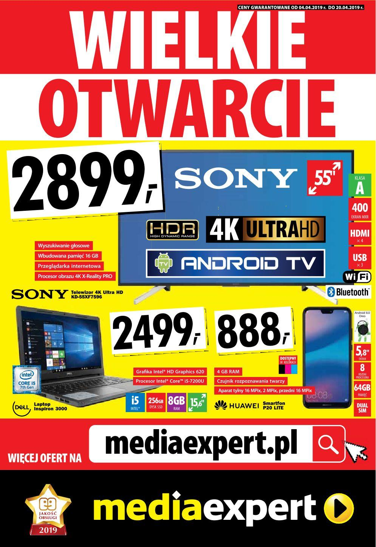 Gazetka promocyjna Media Expert do 20/04/2019 str.0