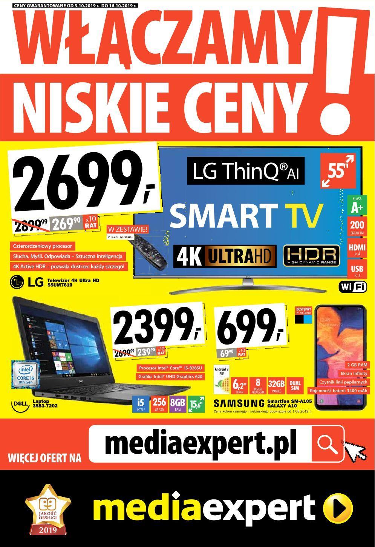 Gazetka promocyjna Media Expert do 16/10/2019 str.1