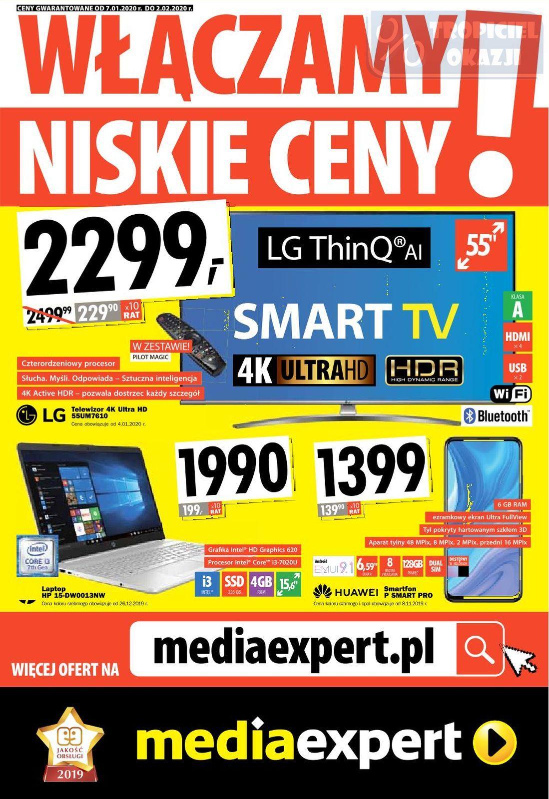 Gazetka promocyjna Media Expert do 02/02/2020 str.1