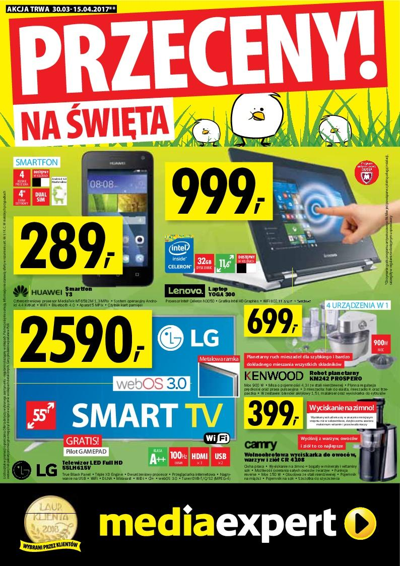 Gazetka promocyjna Media Expert do 15/04/2017 str.0