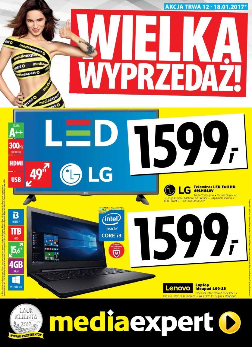 Gazetka promocyjna Media Expert do 18/01/2017 str.0
