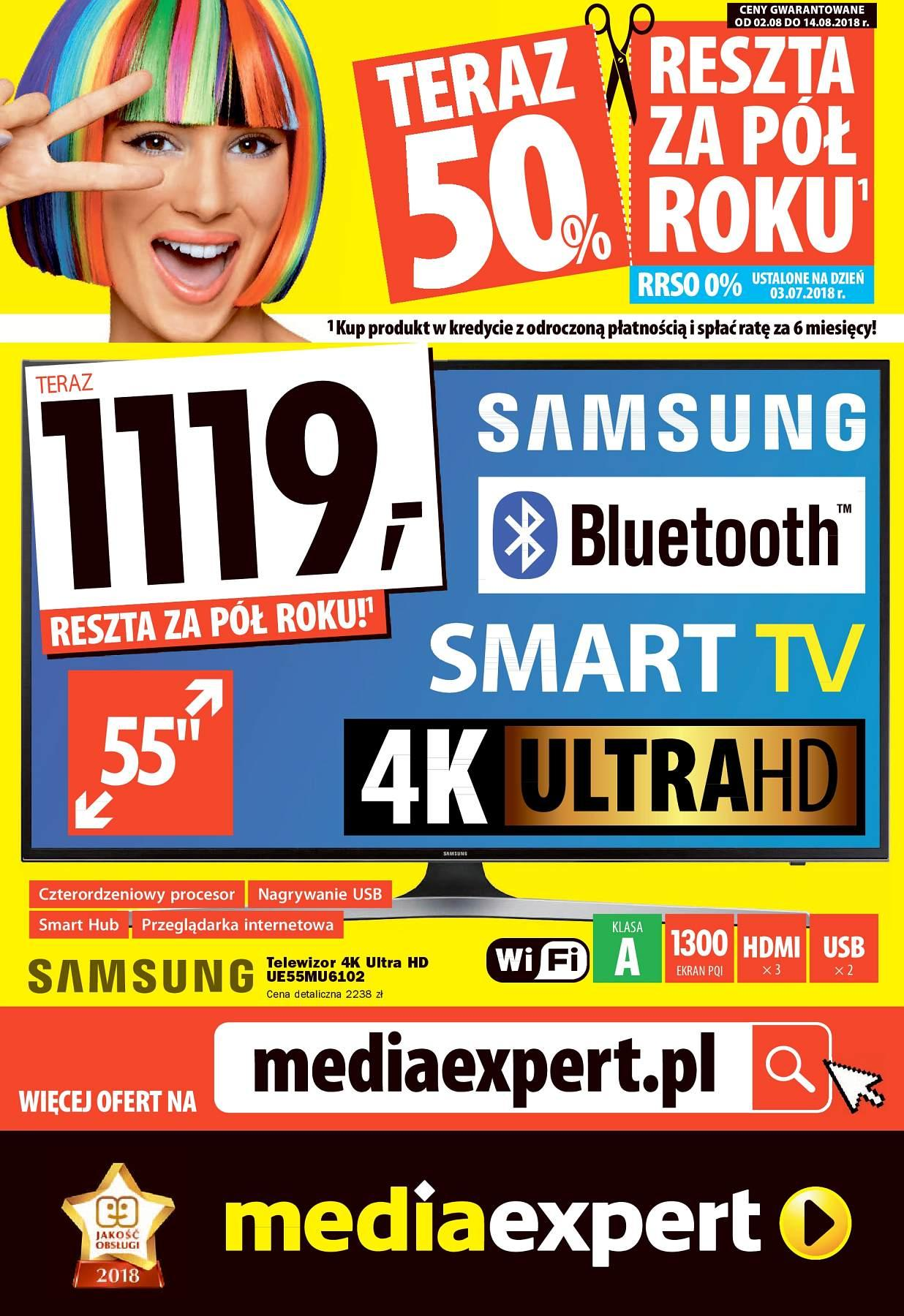 Gazetka promocyjna Media Expert do 15/08/2018 str.0
