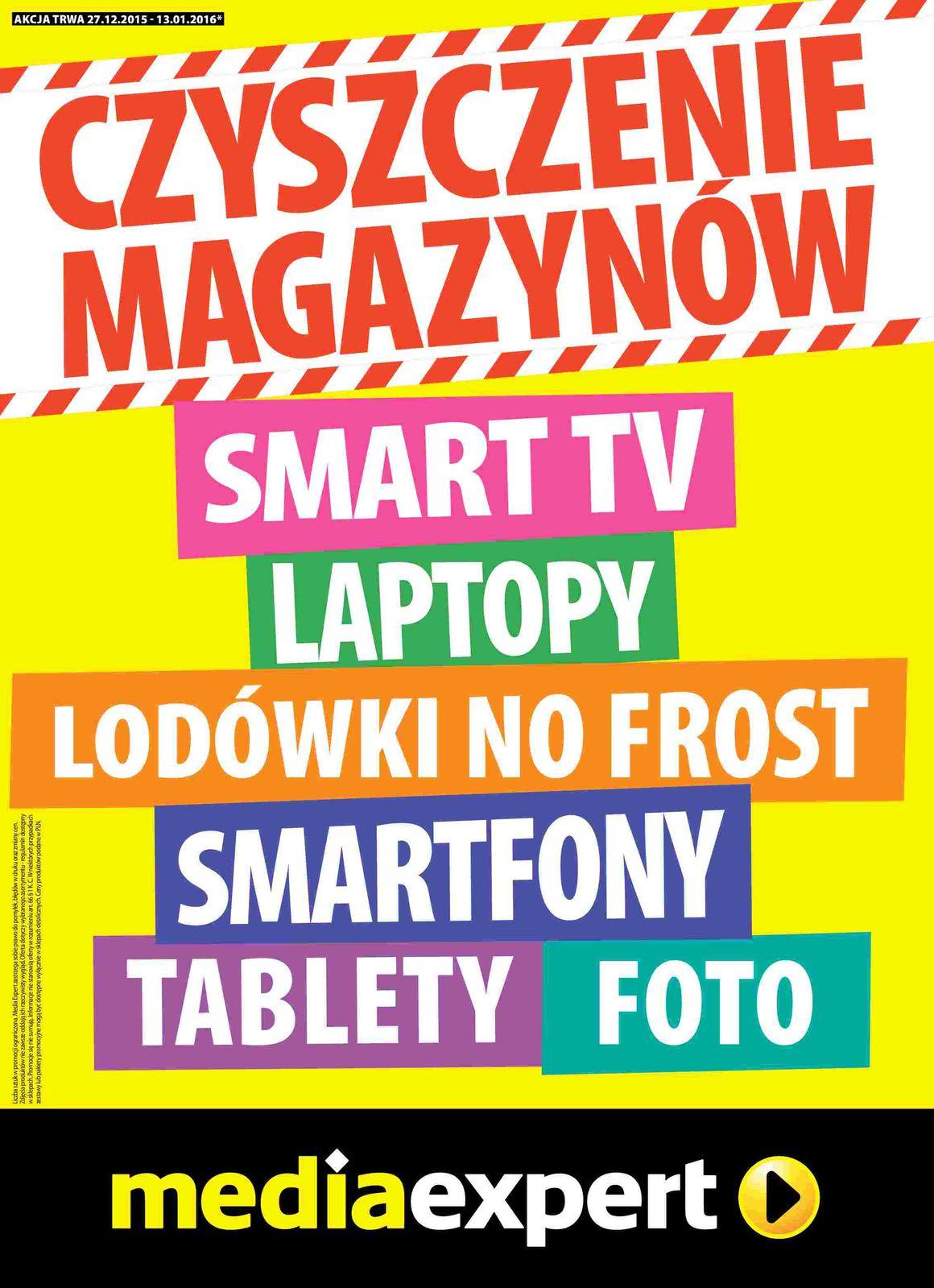 Gazetka promocyjna Media Expert do 13/01/2016 str.0