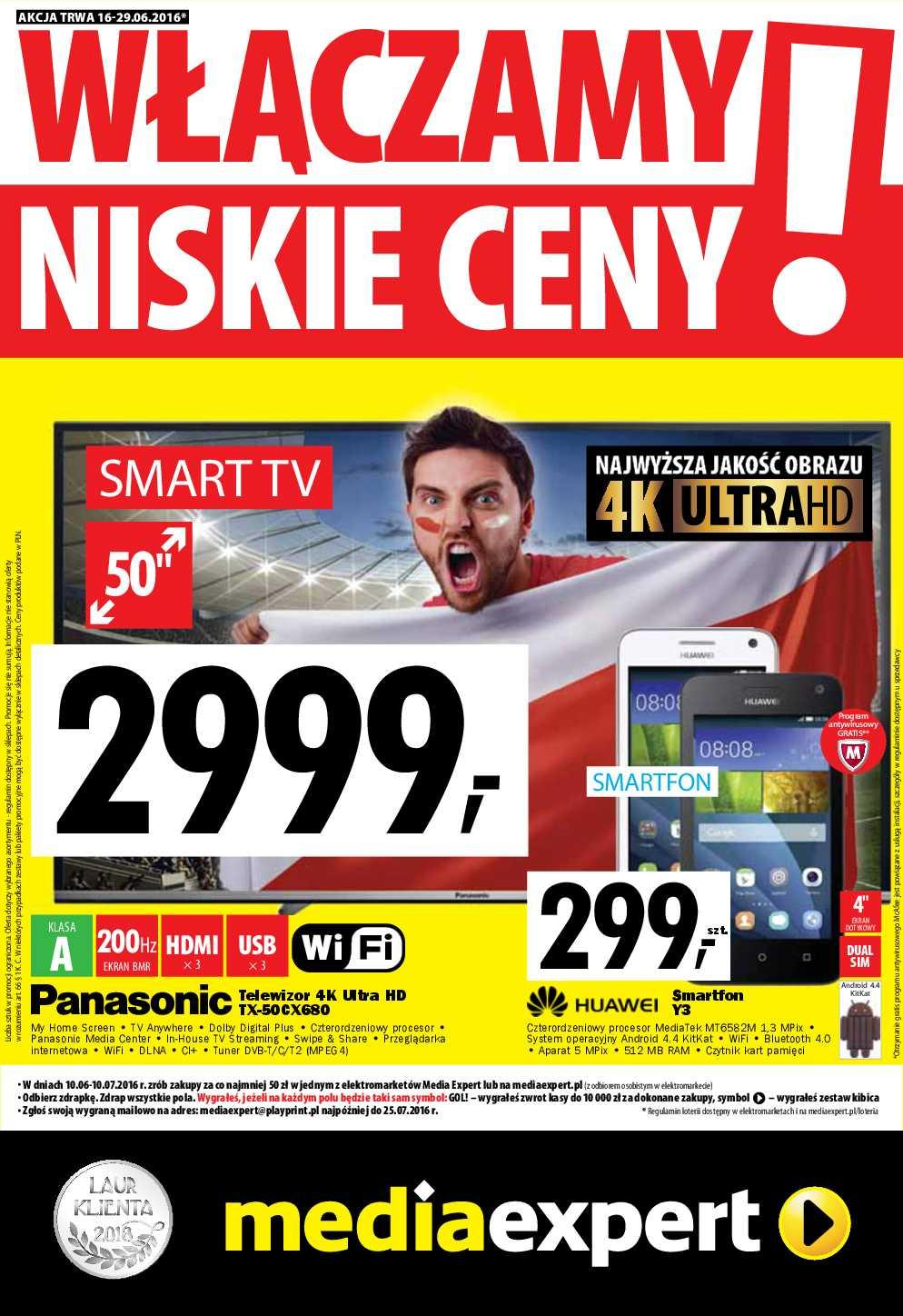 Gazetka promocyjna Media Expert do 29/06/2016 str.0