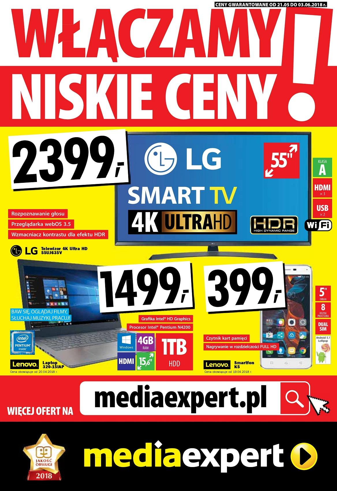 Gazetka promocyjna Media Expert do 03/06/2018 str.1