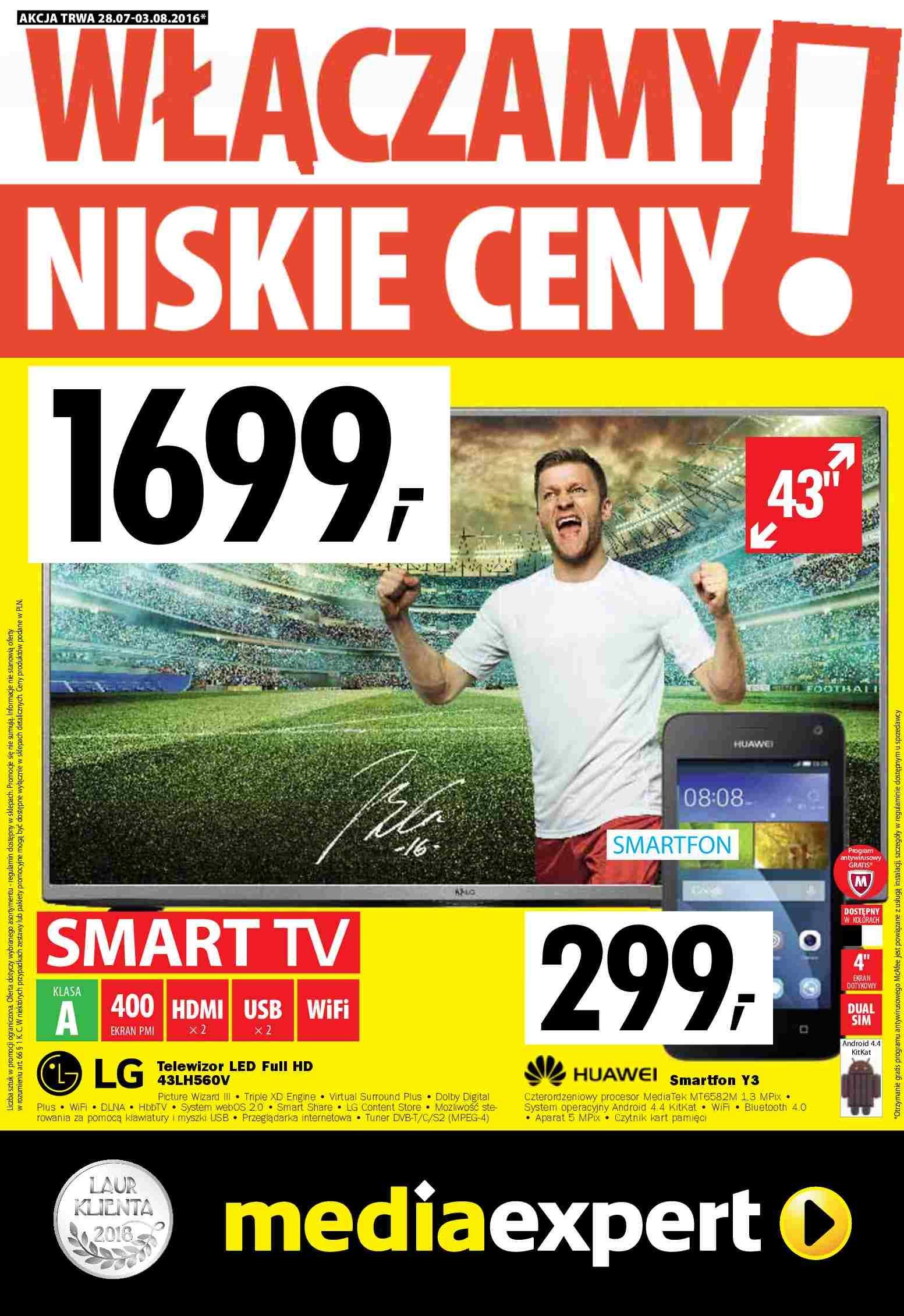 Gazetka promocyjna Media Expert do 03/08/2016 str.0